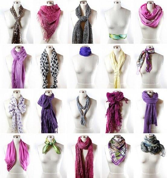 Как красиво завязать шарф на пальто пошагово