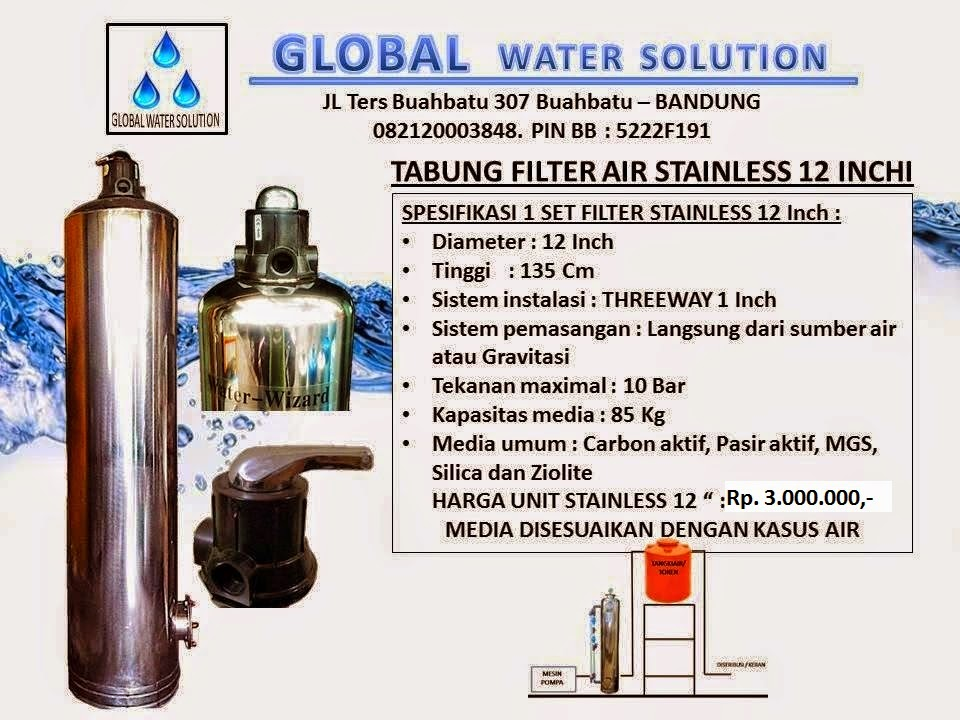 TABUNG FILTER AIR STAINLESS 13