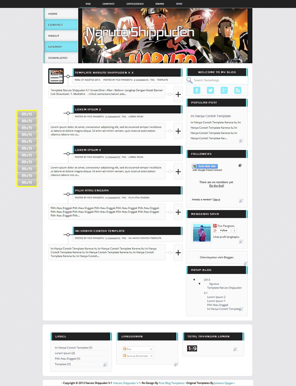 Download Template : Naruto Shippuden V.1 | OPEN SHARE TEMPLATE