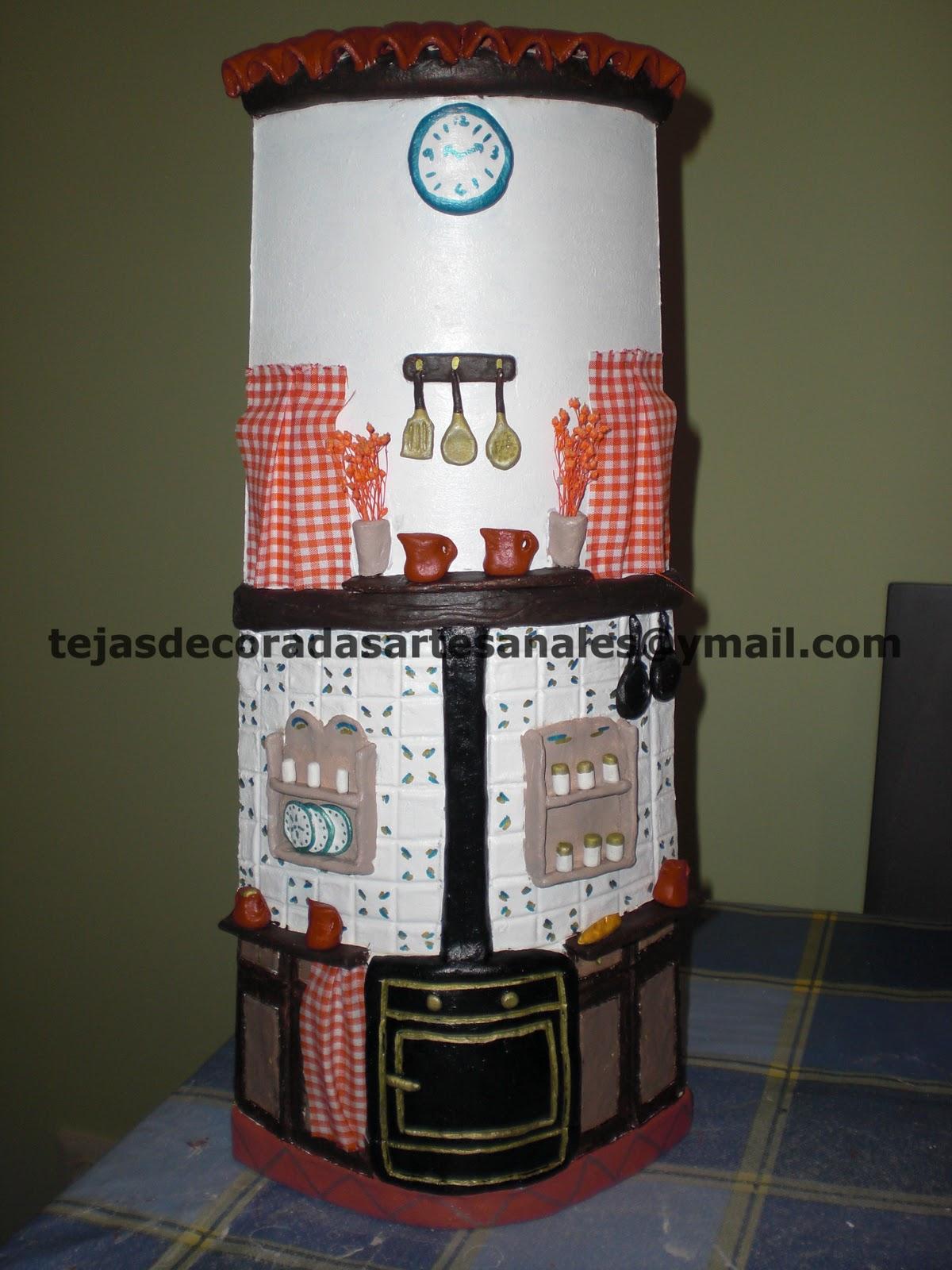 tejas decoradas cocinas