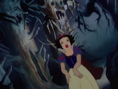 Seven dwarfs evil queen transformation the sequence where snow white