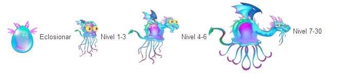 crecimiento del dragon medusa