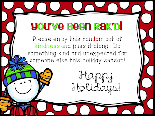http://www.teacherspayteachers.com/Product/Random-Acts-of-Kindness-Holiday-Cards-1018686