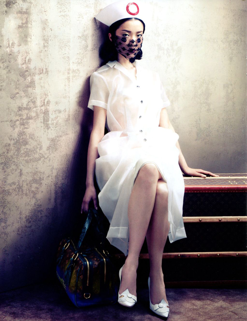 Du Juan wearing Louis Vuitton Spring/Summer 2008 photographed by Sharif Hamza for Vogue China August 2012 via fashioned by love british fashion blog