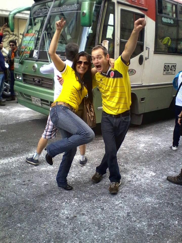 There was a carnival atmosphere all over Colombia after the soccer team's win over Greece.