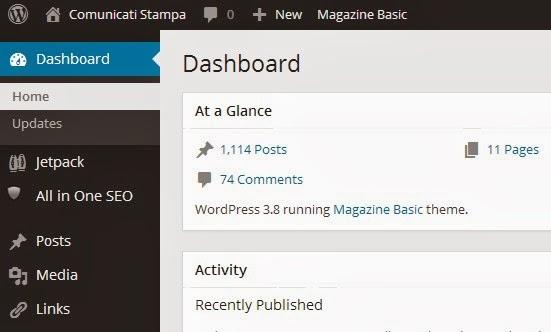 wordpress 3.8 comunicati-stampa.com