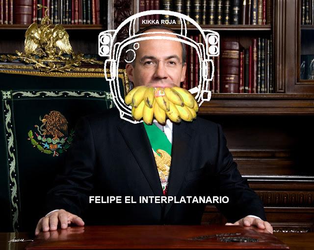 KIKKA ROJA FELIPE CALDERON INTERPLATARIO BUSCA SALIR DEL PAIS INTERPLANETARIO