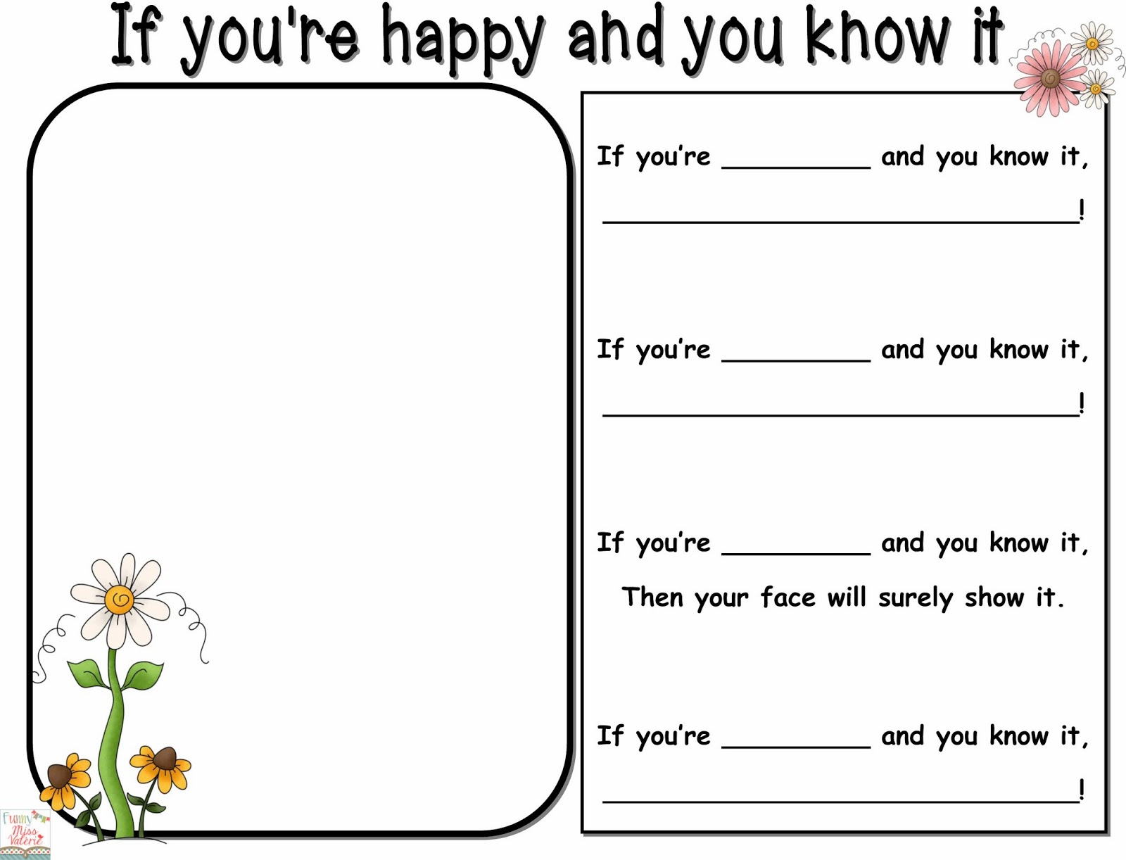 Free Worksheets feelings and emotions worksheets for kids : Funny Miss Valu00e9rie: Feelings