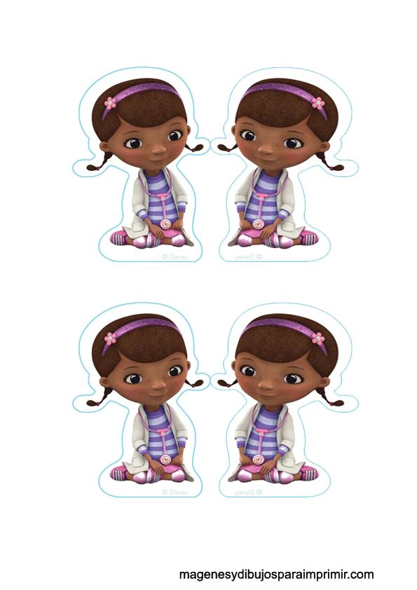 Imprimir y decorar cupcakes con doctora juguetes