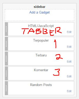 Tabber Tab di Sidebar Blogger