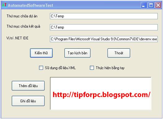 Đồ án tốt nghiệp Mã nguồn code phần mềm kiểm tra và thử phần mềm tự động bằng C# + báo cáo