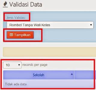 cara validasi data dapodikdas