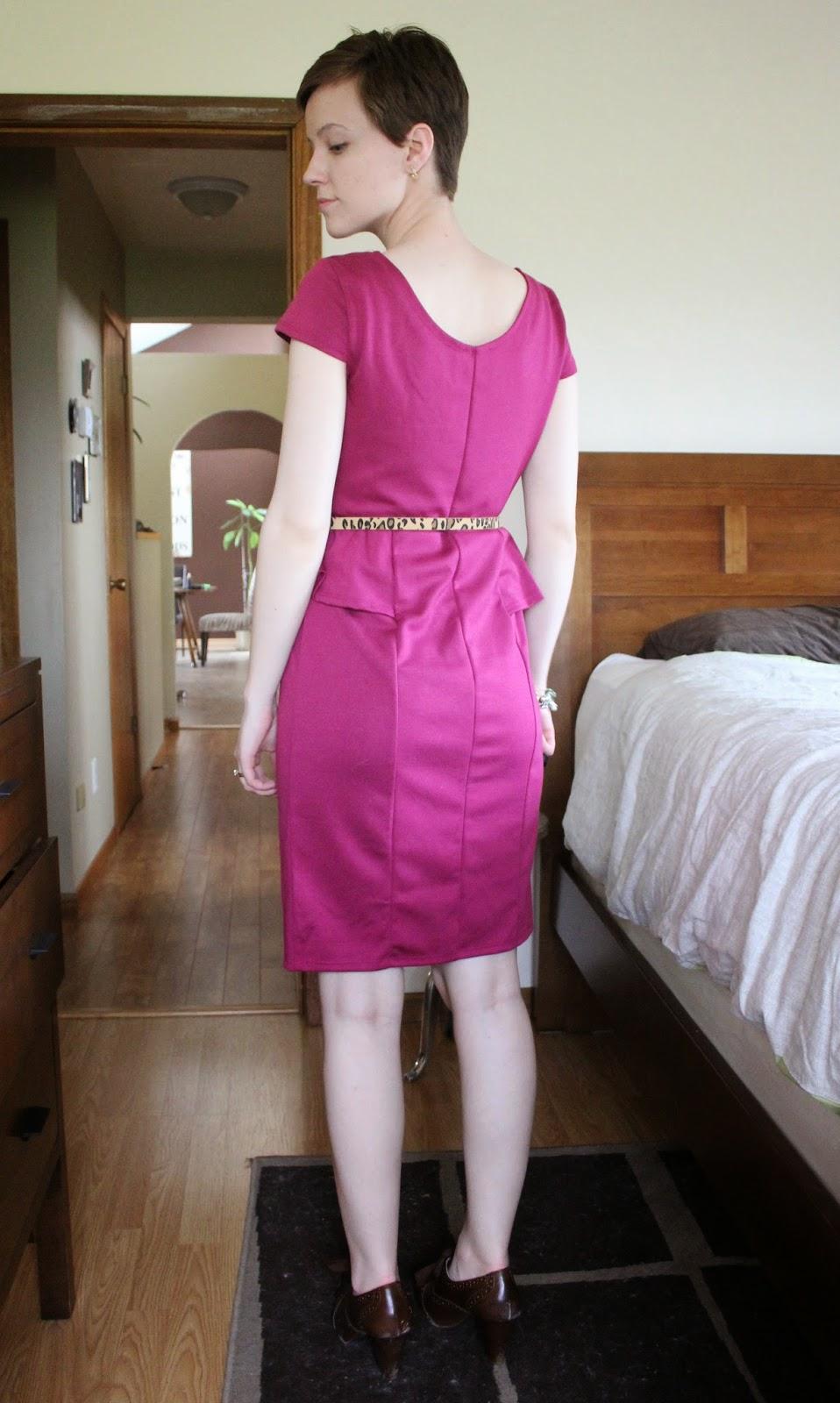 pink dress leopard print belt