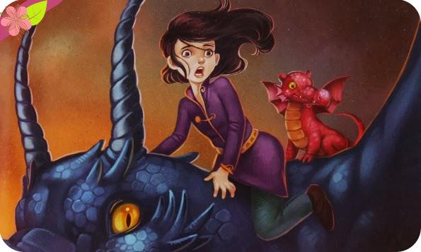 """""""L'enfant-dragon Tome 3 : Le fils de l'eau et du feu"""" d'Éric Sanvoisin, illustration de Jérémie Fleury"""