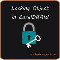 Cara Lock Object di CoreDRAW
