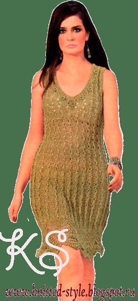 Платье с ажурным низом