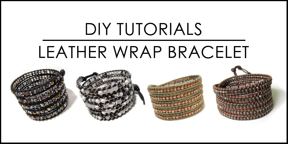 diy leather bracelet tutorial - photo #34