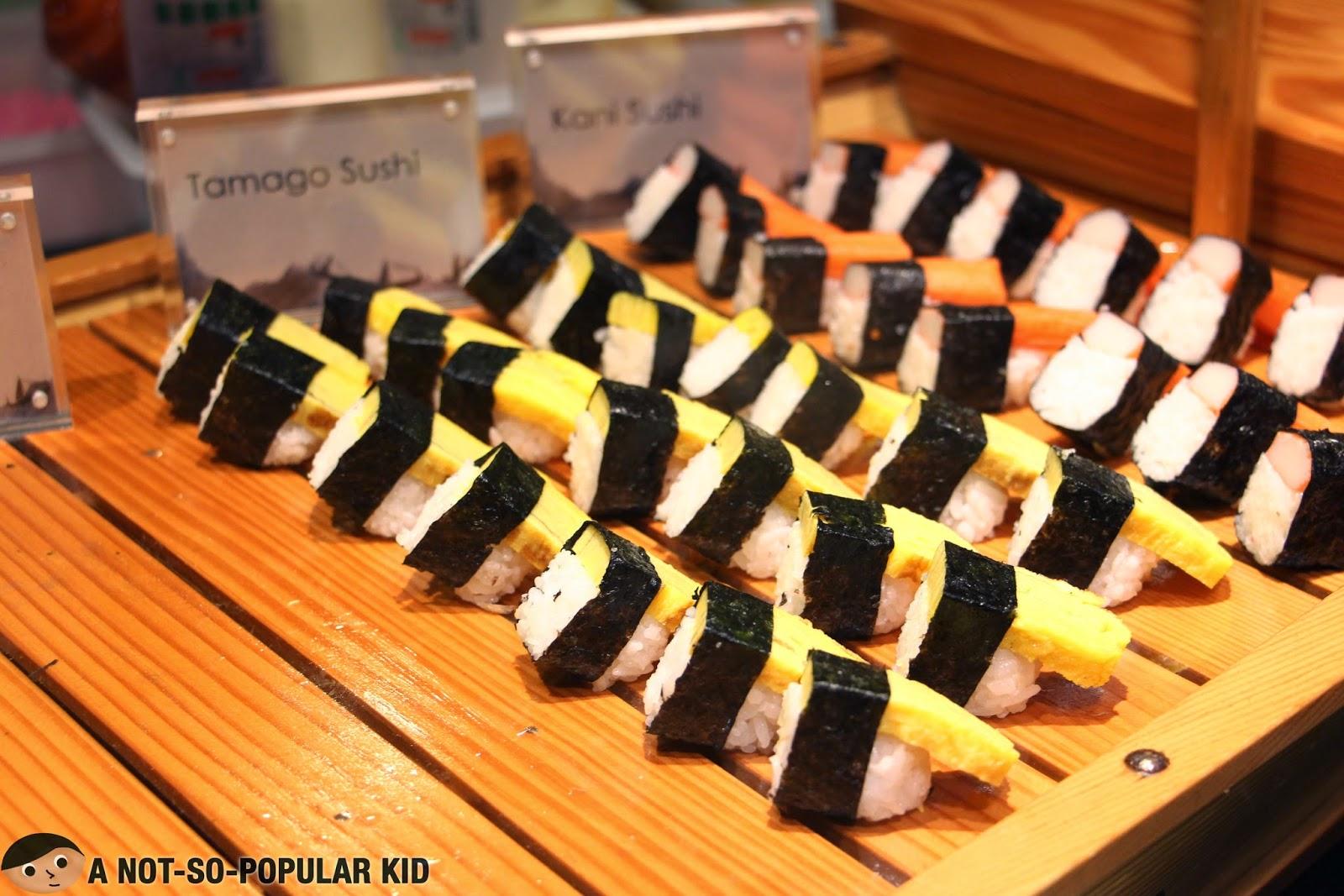 Tamago Sushi and Kani Sushi - some of your Japanese favorites in Vikings