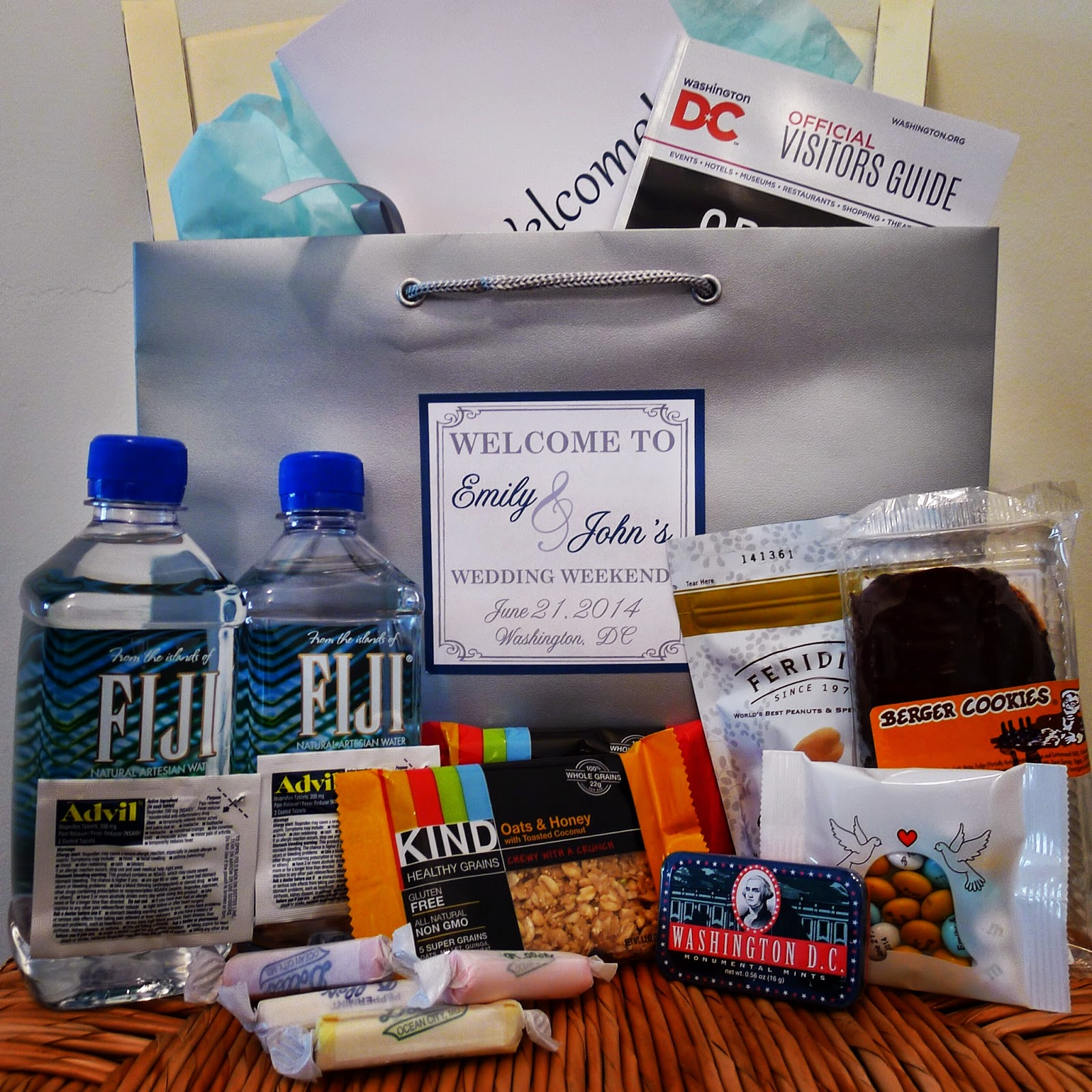 Welcome To My Wedding Welcome Bags Engaging Affairs
