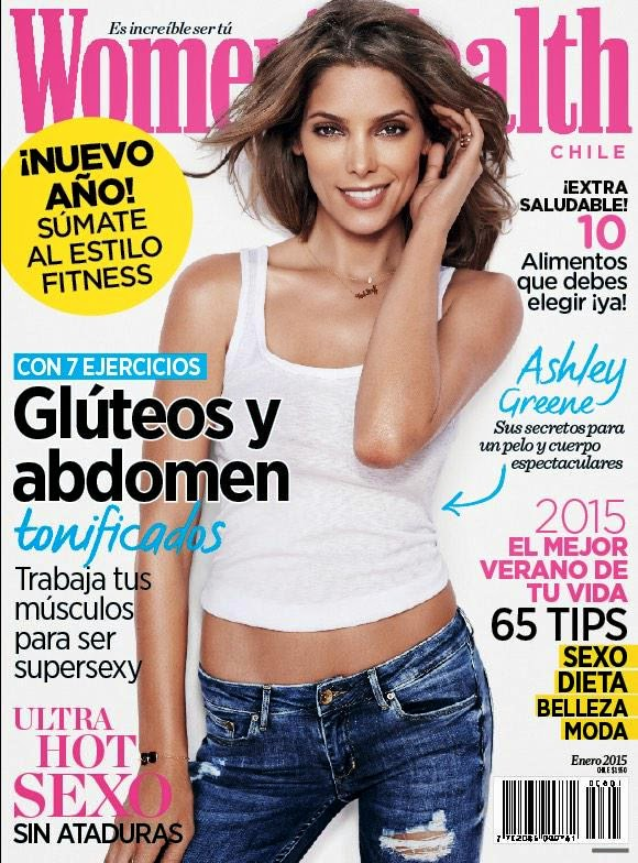 Actress, Model @ Ashley Greene - Women's Health UK, April 2015