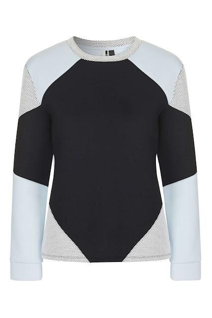 topshop colourblock jumper,