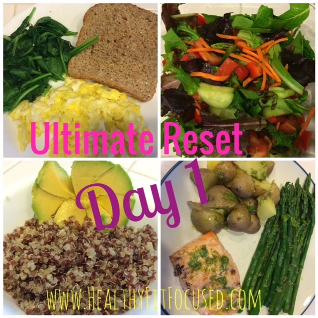 Day 1 of Ultimate Reset, www.HealthyFitFocused.com