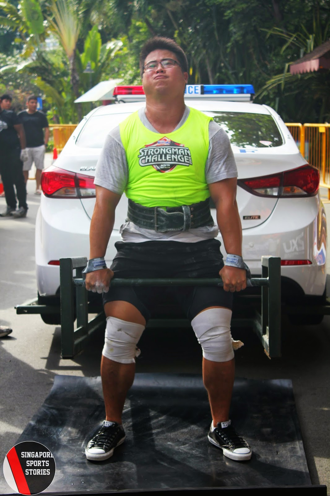 Benny Chew from Singapore strongman community, SG Titans, finished fourth at the HomeTeamNS Strongman Challenge 2014
