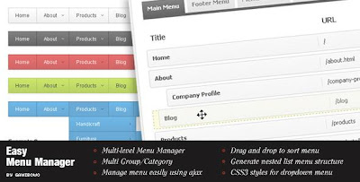 CodeCanyon - Easy Menu Manager