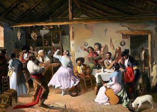 Baile en una venta - Rafael Benjumea 1850 - Museo Carmen Thyssen (Málaga)