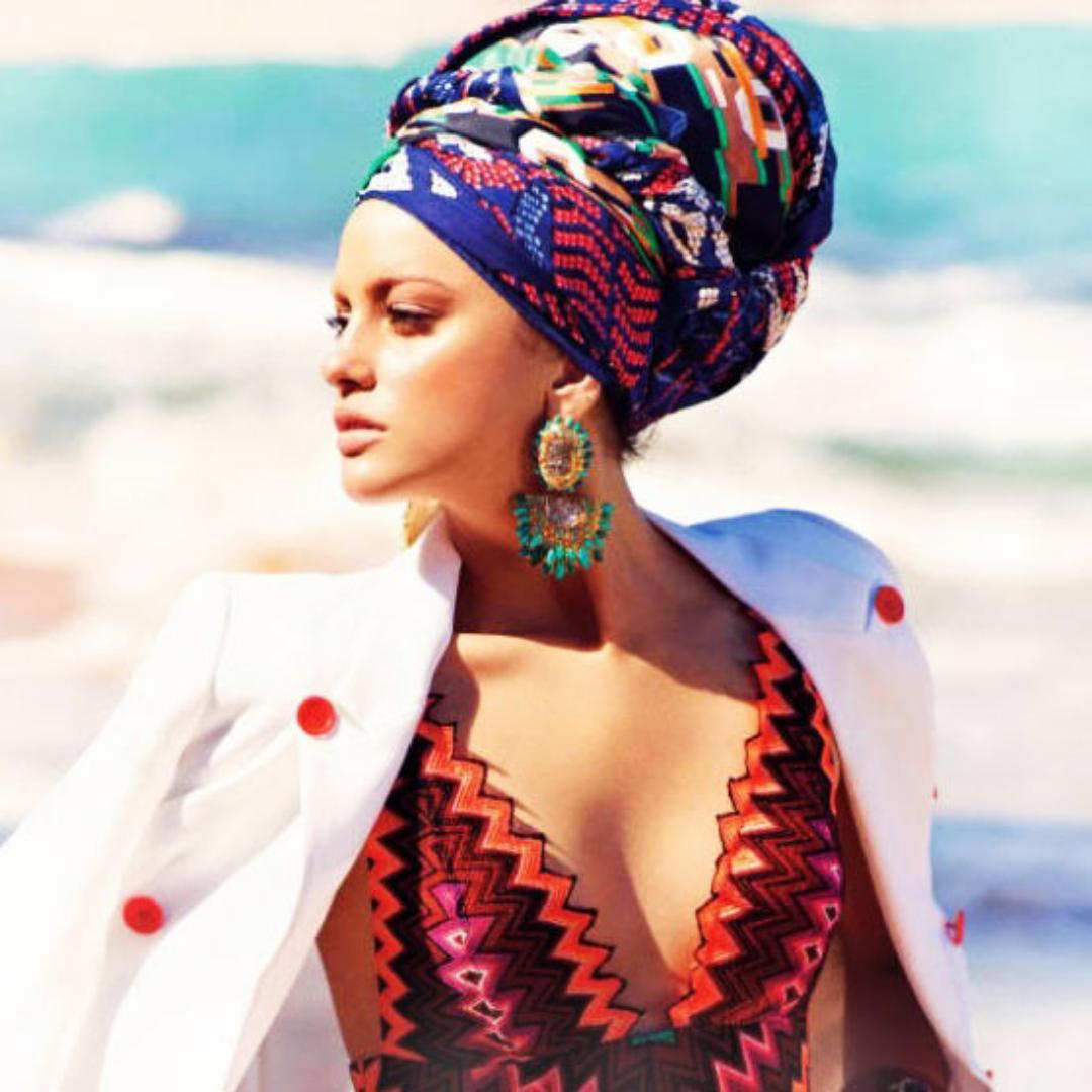 черный платок на голову фото