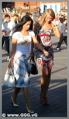 Girls wearing summer dresses