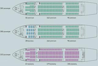 Seat Configuration untuk 3 kelas maupun all-economy frigate ecojet