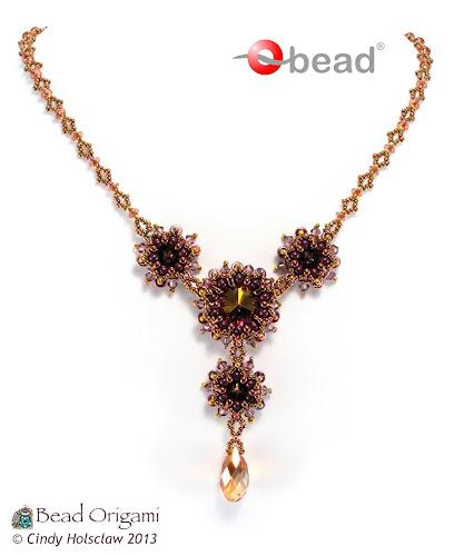 Beaded Diamond: Bead Origami: Free Pattern: Diamond O Beaded Chain