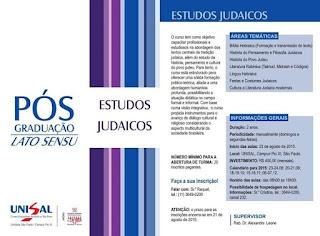 UNISAL oferece pós-graduação em Estudos Judaicos