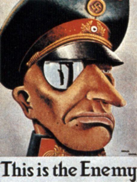 WWII propaganda. This is the enemy! Это - враг! Американский плакат
