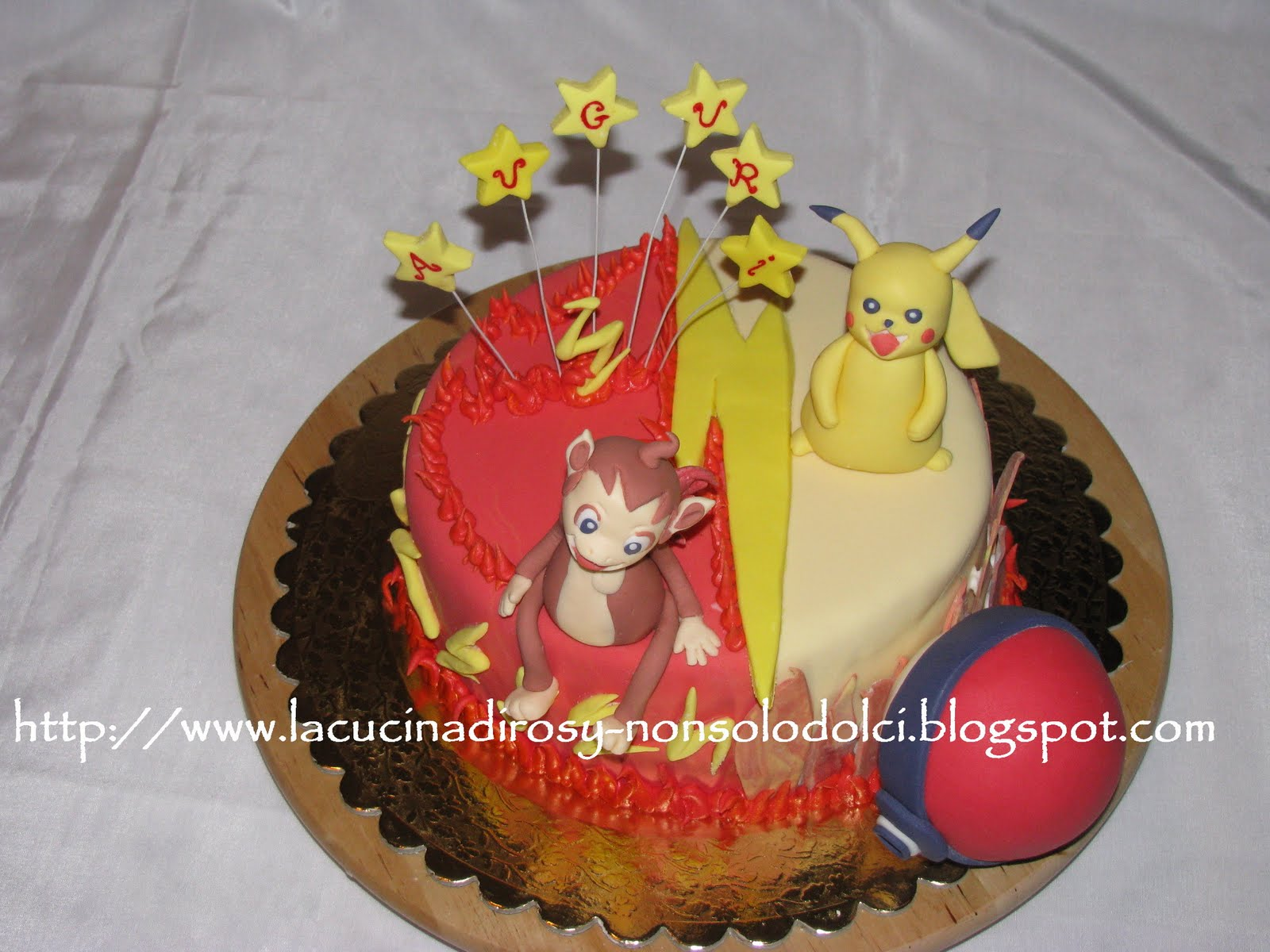 Le torte decorate di rosy torta pokemon for Decorazioni torte ladybug