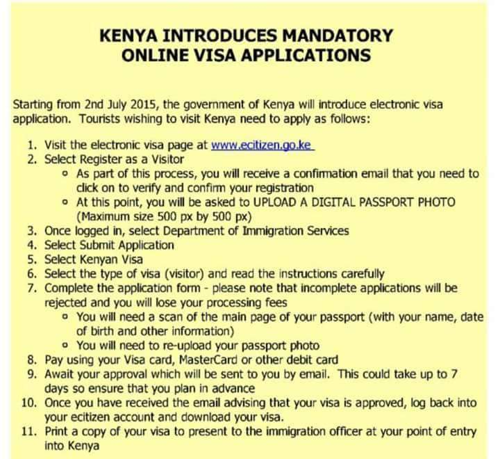 KISUMU DALA EVENTS: Kenya Introduces Mandatory Online Visa ...