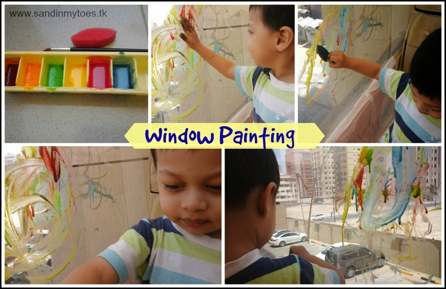 Window painting with home made paint