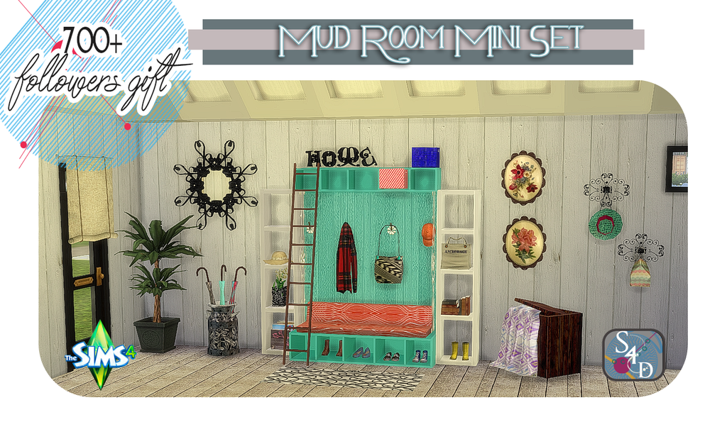 My Sims 4 Blog The Mud Room Set By Daer0n