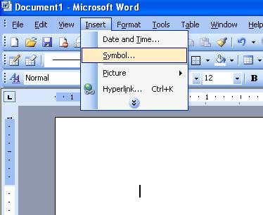 Insert Symbol In Microsoft Word 2003 ~ Microsoft Office ...
