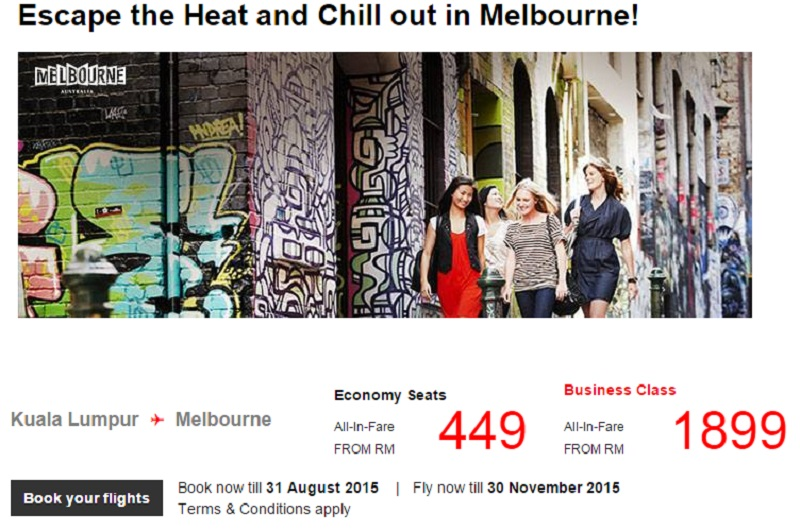 [PROMO] Fly to Melbourne with AirAsia from only RM449, promo ends 31 August 2015!