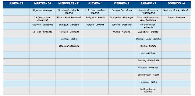 Partidos del 29 Julio al 4 de Agosto Hacer click sobre la imagen para aumentar.