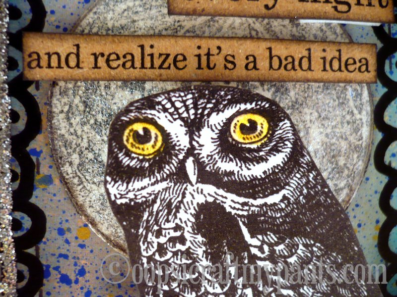oops  i craft my pants  night owl altered altoids tin lid