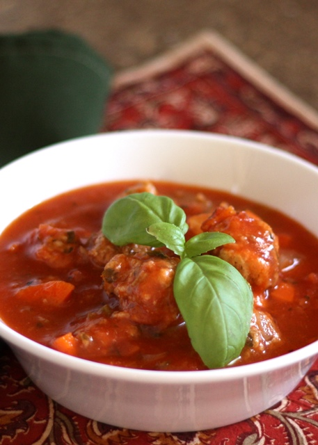 Barefeet In The Kitchen: Italian Meatball Soup