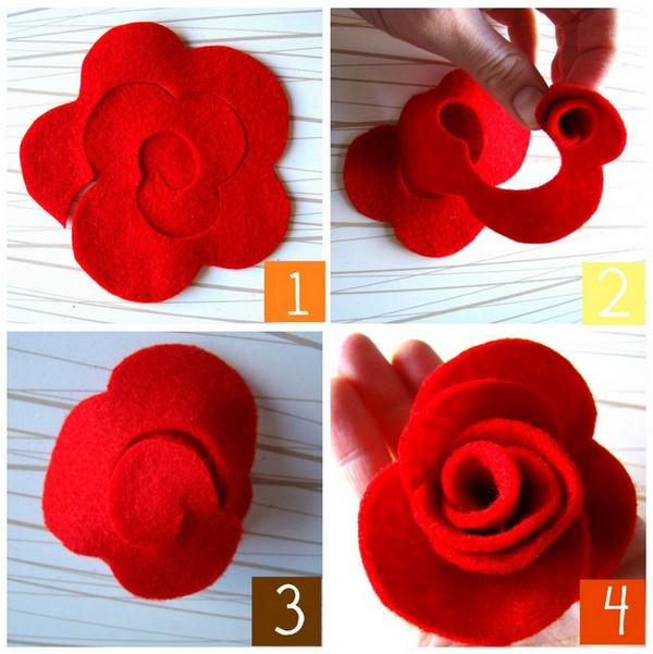 C mo hacer rosas de fieltro portal de manualidades - C0m0 hacer manualidades ...