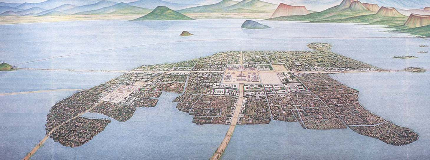 Map of Tenochtitlan, 1524 [3,029×1,931px] : MapPorn