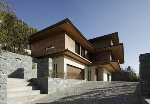Modern japanese house of t residence by kidosaki architects studio modern architect - Modern japanese house ...