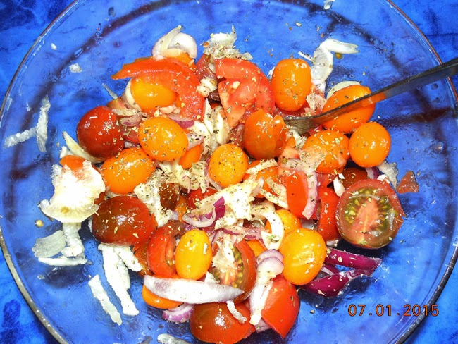 salata de rosii de diverse culori