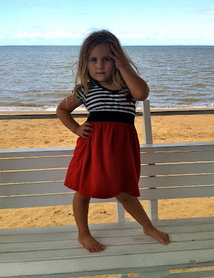 kids beach, pier Redcliffe