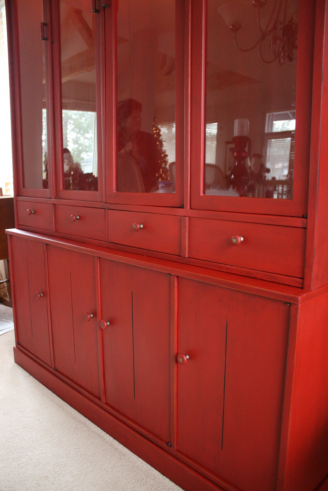 Reloved Rubbish: Red China Cabinet